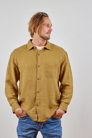 HEMP CLOTHING AUSTRALIA Heritage Shirt Button Down 100% Hemp