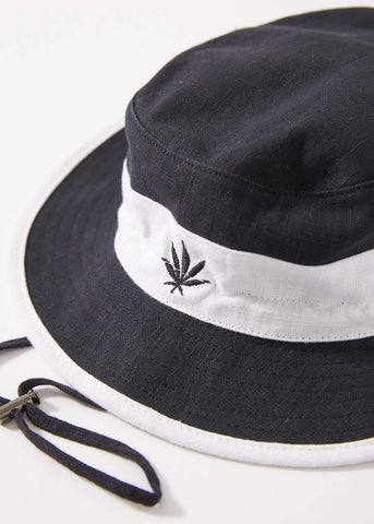 AFENDS Torched Panel  Hemp Bucket Hat