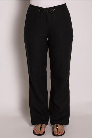 LADIES 100% HEMP STRAIGHT LEG BAGGY PANT