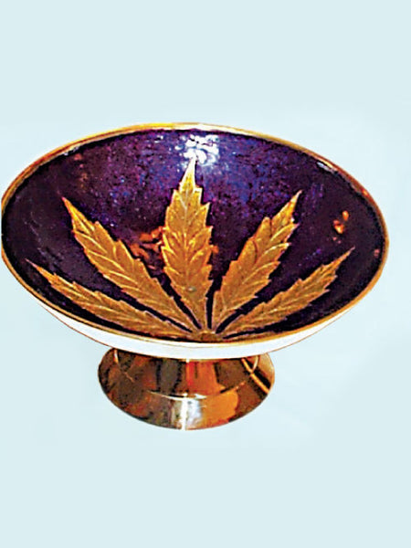 Brass leaf Bowl with Stand 2345