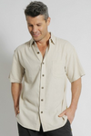 BRAINTREE Mens Hemp Rayon Short Sleeve Shirt