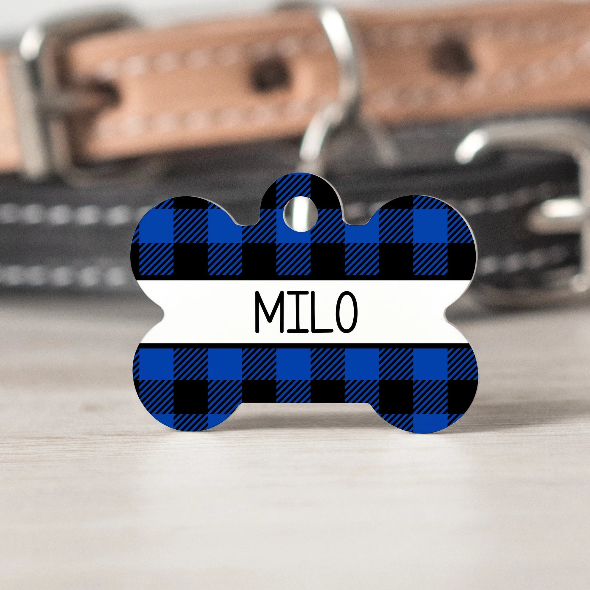 Blue Buffalo Check Pet Tag