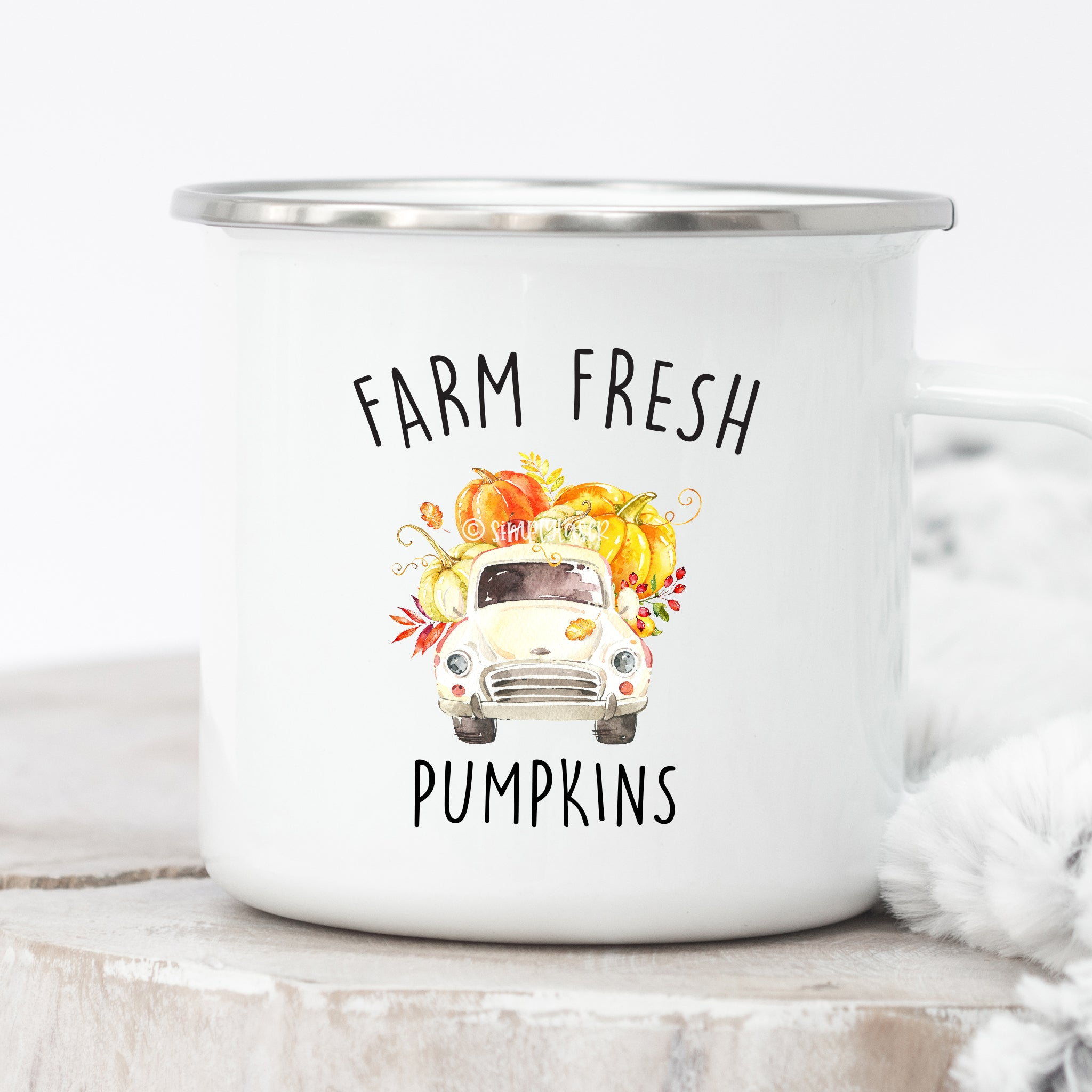Farm Fresh Pumpkins Campfire Mug