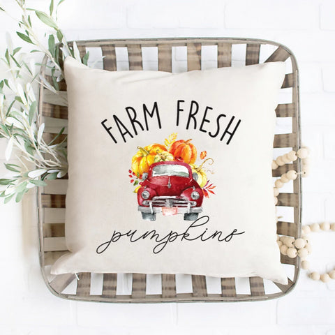 Farm Fresh Pumpkins Pillow Cover