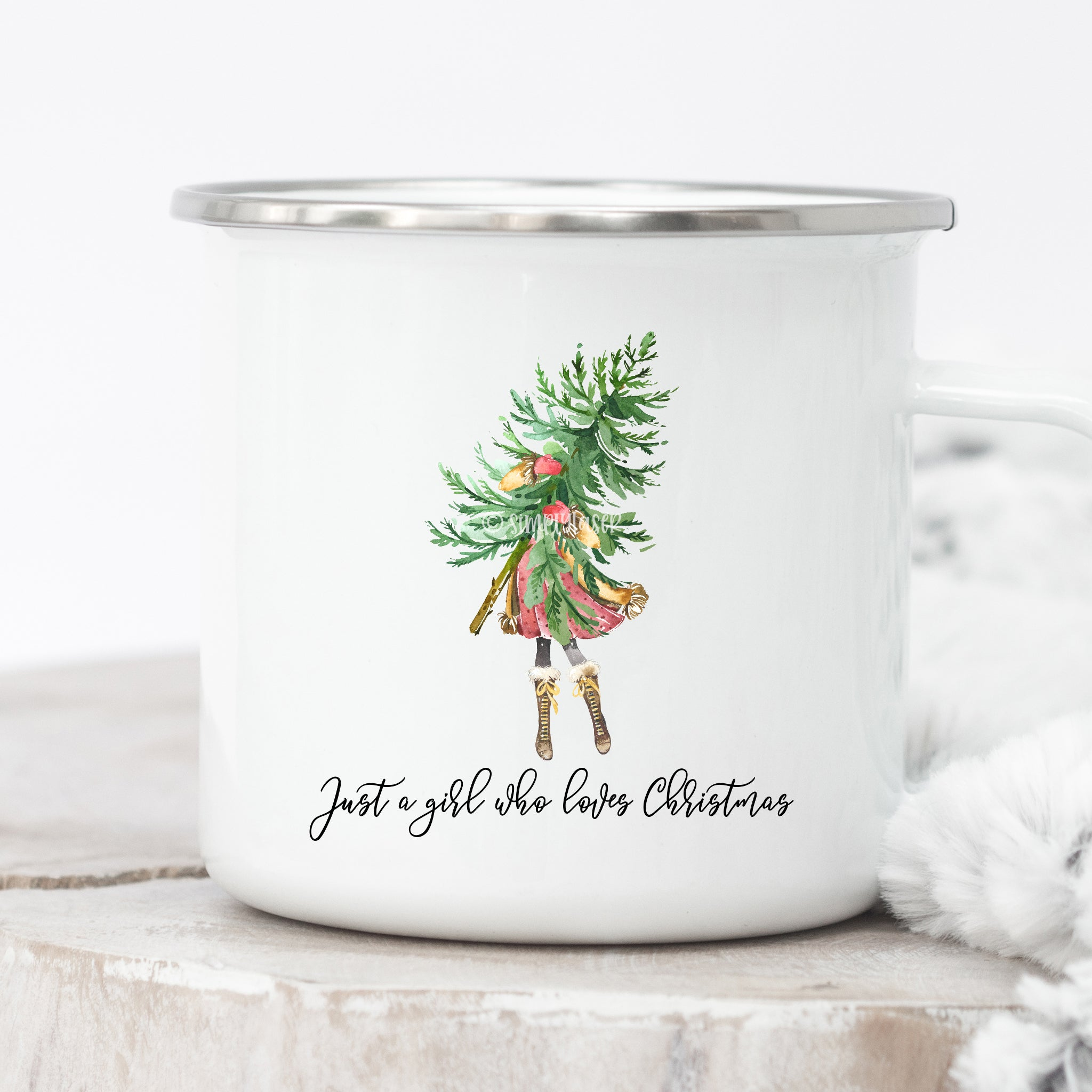 Just A Girl Who Loves Christmas Campfire Mug