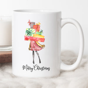 Merry Christmas Girl Coffee Mug