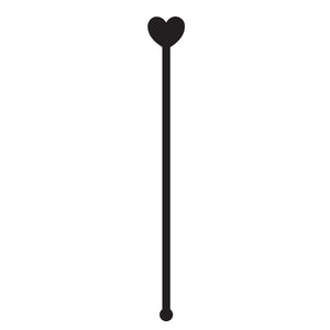 SET of 6 'Heart' Wedding Drink Stirrer