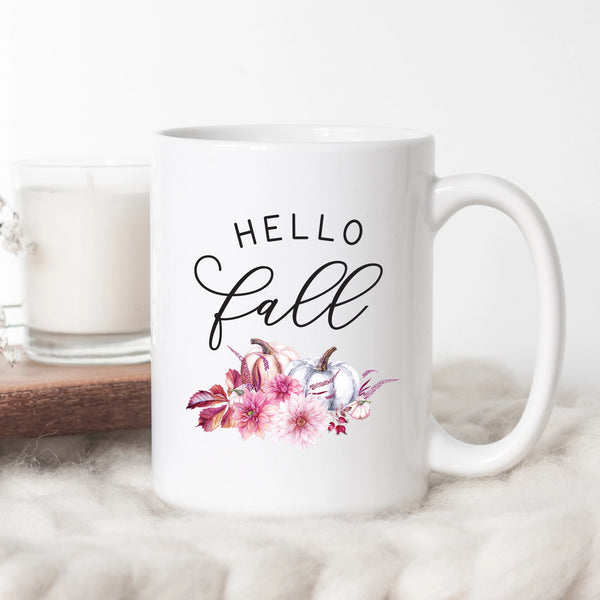 Hello Fall Pumpkin Coffee Mug