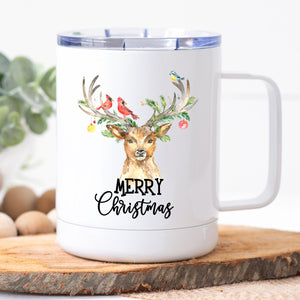 Merry Christmas Deer Travel Mug