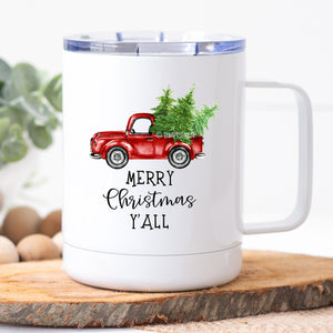 Merry Christmas Y'all Travel Mug