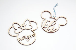 Mickey & Minnie Inspired Ornament