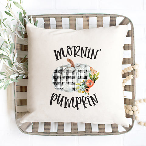 Mornin' Pumpkin Weather Pillow Cover