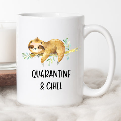 Quarantine & Chill Sloth Coffee Mug