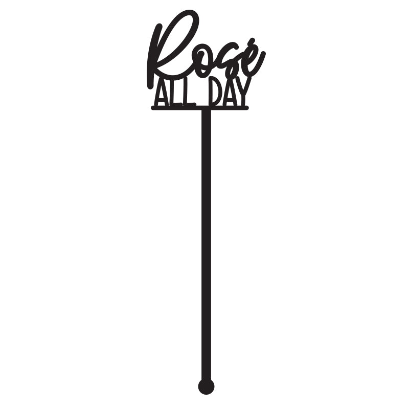 SET of 6 'Rosé All Day' Drink Stirrer
