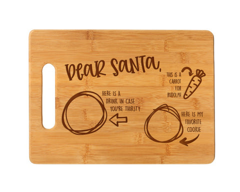Food For Santa Cutting Board