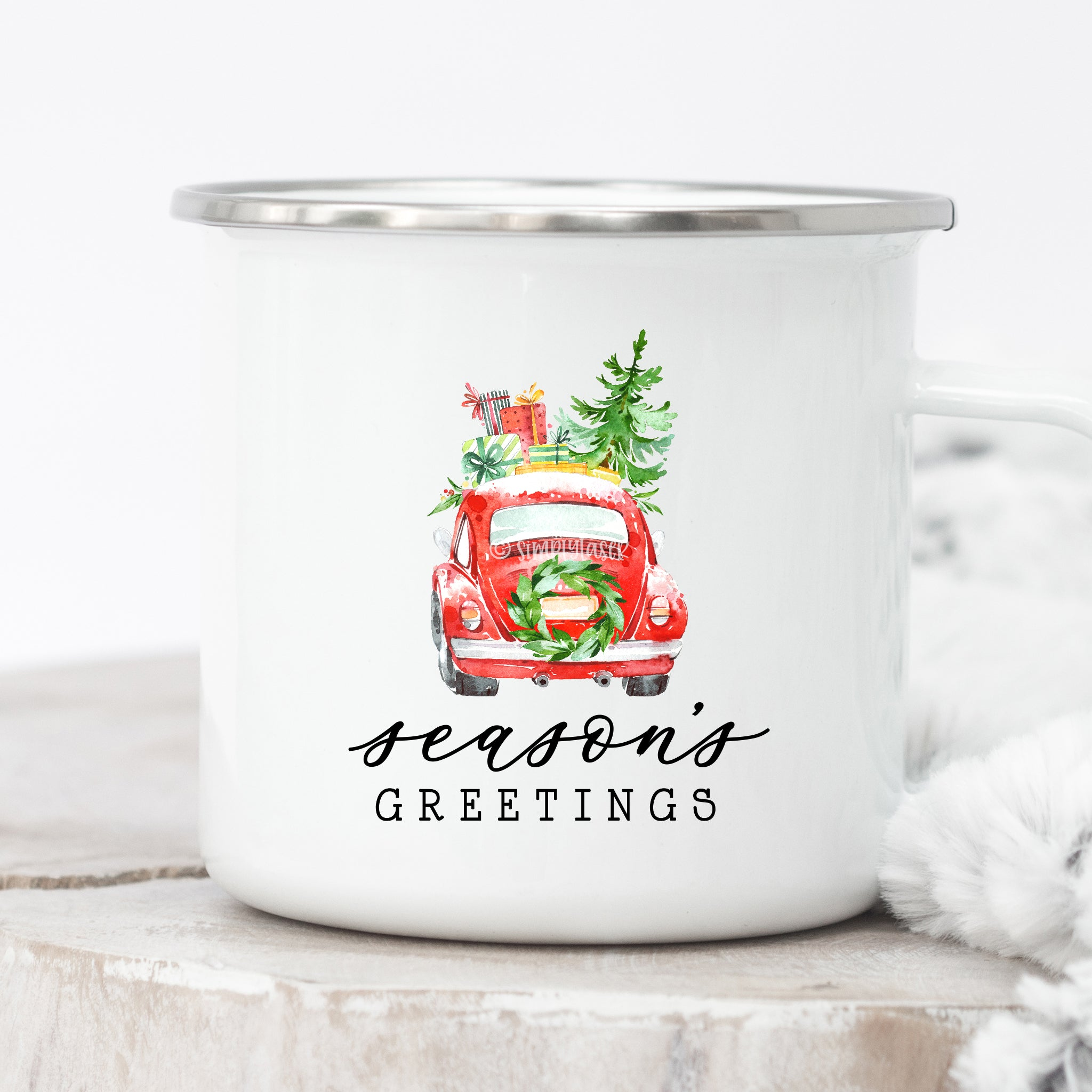 Season's Greetings Campfire Mug