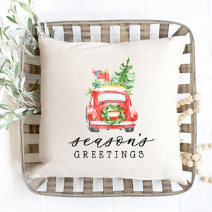 Season's Greetings Pillow Cover