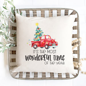 It's The Most Wonderful Time Of The Year Christmas Pillow Cover