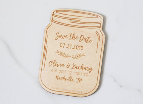 Mason Jar - Save the Date Magnet