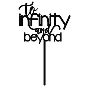'To Infinity and Beyond' Wedding Cake Topper