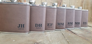 7 Custom Engraved Groomsmen Flask Gift Set Bundle | Flasks | JWATERS DESIGN