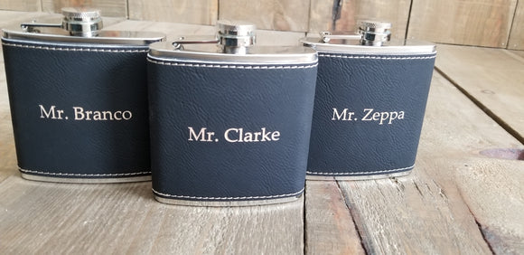 Simple and Elegant Personalized Flasks for Groomsmen | Flasks | JWATERS DESIGN