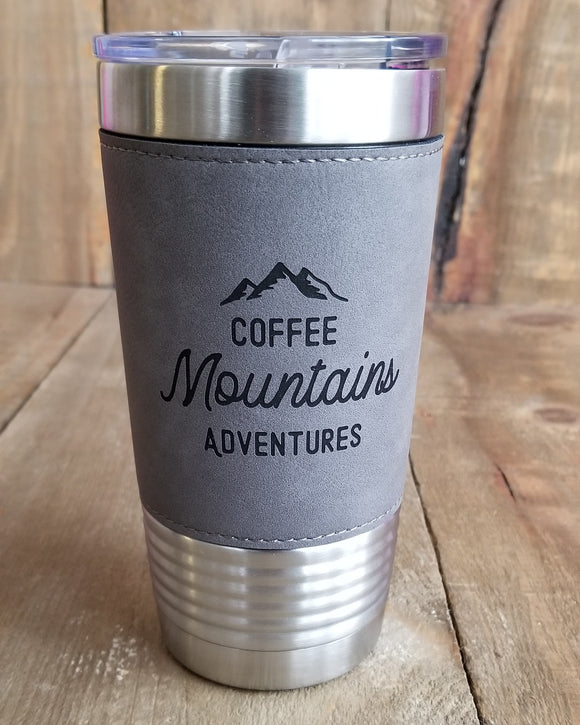 Coffee Mountains Adventures 20oz Tumbler | Drinkware | JWATERS DESIGN