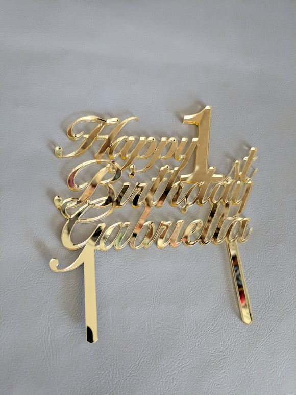 Happy 1st Birthday Cake Topper | Cake Topper | JWATERS DESIGN