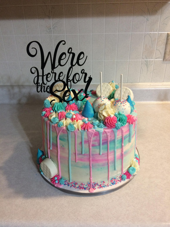 Gender Reveal Cake Topper | Cake Topper | JWATERS DESIGN