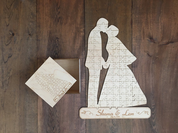 Custom Engraved Wedding Guest Puzzle | Guest Puzzles | JWATERS DESIGN