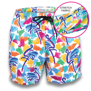 The Flamingo A Go-Go Stretch Boardies