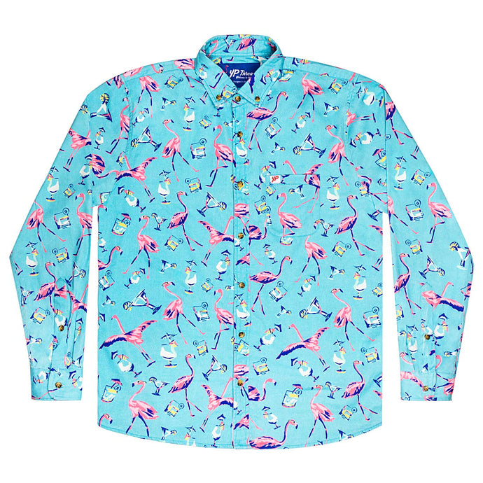 The Fully Flamingo'd Long Sleeve Shirt