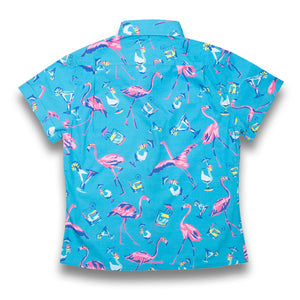 The Fully Flamingo'd Womens Stretch Shirt