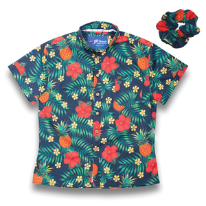 The Hula-la Womens Stretch Shirt (FREE SCRUNCHIE)