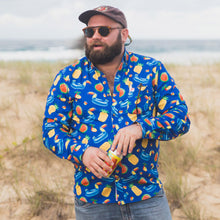 Long Sleeve Shirt, Mens Shirt, Multicolour, Hawaiian Shirt, Pool Toys, Party Shirt