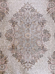 Alman Oversized Muted Sage Blush Faded Medallion Turkish Rug