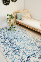 GEMA OVERDYED BLUE HAMPTON VINTAGE LOOK AREA RUG 160X243 CM - Lustere Living