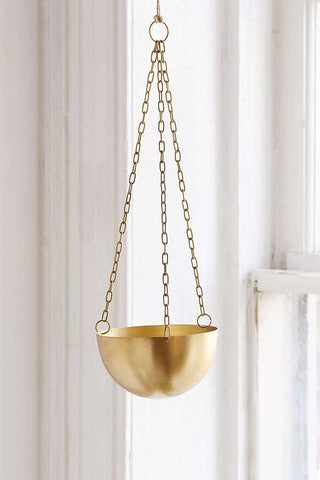 Mini Brass Hanging Pot Planter - Lustere Living