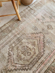 Delmar Faded Soft Taupe Blush Turkish One of A Kind Accent Rug