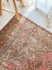 Izmir Blush Taupe Faded One of A Kind Turkish Rug - Lustere Living