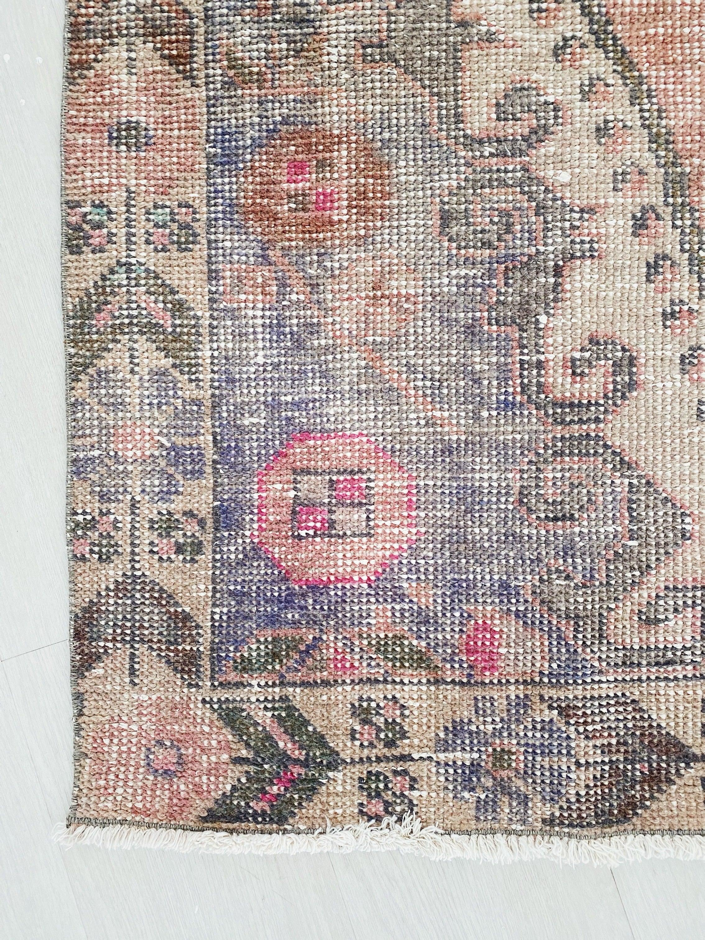 Amanda Faded Apricot Taupe Turkish One of A Kind Accent Rug - Lustere Living