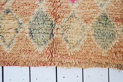 Mata Oversized Faded Apricot Vintage One Of A Kind Moroccan Rug - Lustere Living