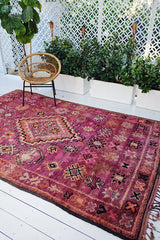 Lorna Purple Boysenberry Boujad Moroccan Rug 300x200CM - Lustere Living