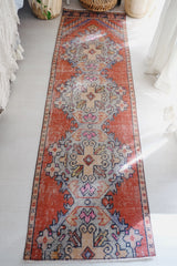 Soleil Warm Red Medallion Handwoven Turkish Hallway Kitchen Runner Rug - Lustere Living