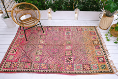 ELECTRA FADED FUCHSIA VINTAGE BOUJAD MOROCCAN RUG - Lustere Living