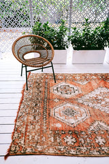 HAMAD VINTAGE OCHRE OVERDYED MOROCCAN RUG 280X170CM - Lustere Living