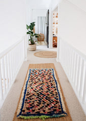 Sagora Vintage Moroccan Multi Coloured Runner Rug 180x73cm - Lustere Living