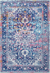 Zamer Medallion Starry Blue Over dyed Persian Rug  160cm x 230cm - Lustere Living