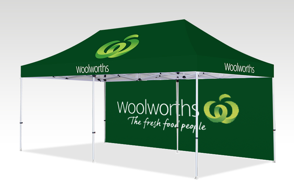 6000mm x 3000mm Pop-up Gazebo with No side walls & Single back (Displayed inside)