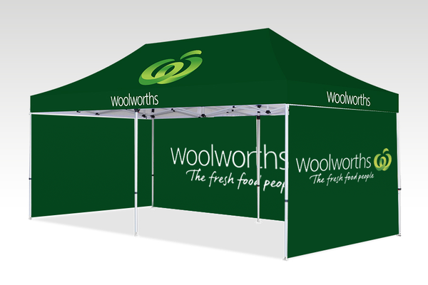6000mm x 3000mm Pop-up Gazebo with Single side (Displayed outside) & Double Sided Back